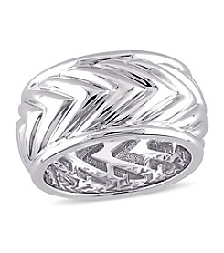 V1969 ITALIA Men's Zig Zag Ring