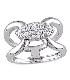 V1969 ITALIA White Cubic Zirconia Mystique Ring