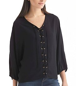 Nine West Jeans® Tiana Lace-Up Top