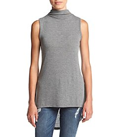 no comment™ Sleeveless Funnel Neck High-Low Top