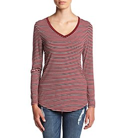 Pink Rose® Brenton Stripe Long Sleeve Tee