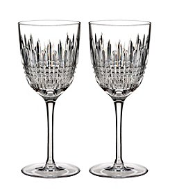Waterford® Set of 2 Lismore Diamond White Wine Glasses