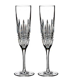 Waterford® Set of 2 Lismore Diamond Champagne Flutes