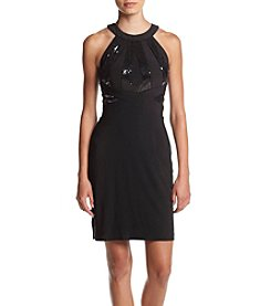 Morgan & Co.® Sequin Top Bodycon Open Back Dress