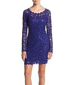 My Michelle® Lace Sheath Dress