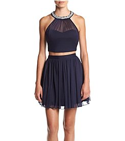 Speechless® Two-Piece Illusion Party Dress