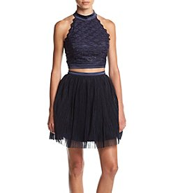 Trixxi® Highneck Soutache Two-Piece Dress