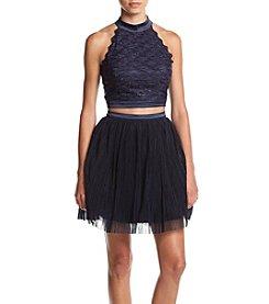 Trixxi® Highneck Soutache Two-Piece Dress