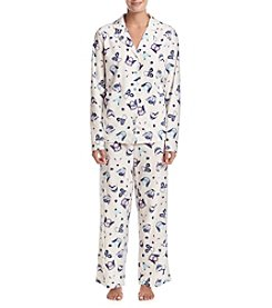Intimate Essentials® Printed Fleece Pajama Set