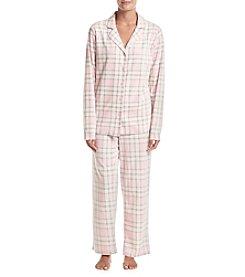 Intimate Essentials® Printed Fleece Pajama Set