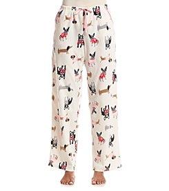 Relativity® Printed Fleece Pajama Pants