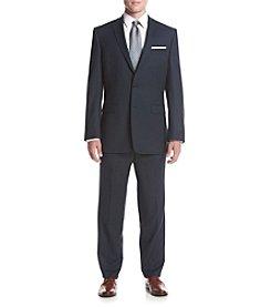 Calvin Klein Men's Classic Fit Blue Tick Suit