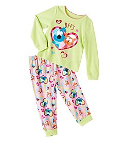 Komar Kids® Girls' 2T-4T 2-Piece Dog & Cat Bff's Pajama Set