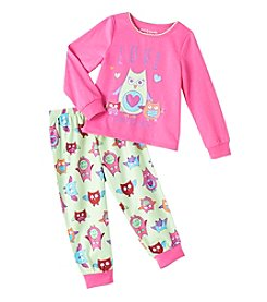 Komar Kids® Girls' 2T-4T 2-Piece Love Is Owl You Need Pajama Set