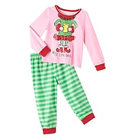 Komar Kids® Girls' 2T-4T 2-Piece Elfie Selfie Pajama Set