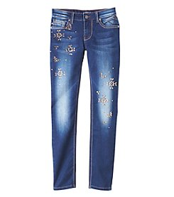 Vigoss® Girls' 7-16 Embellished Skinny Jeans