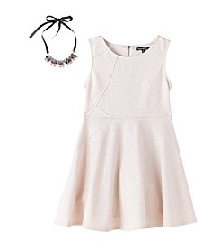 Sequin Hearts® Girls' 7-16 Metallic Fit And Flare Dress