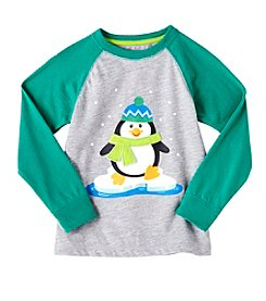 Mix & Match Boys' 2T-4T Long Sleeve Penguin Raglan Tee