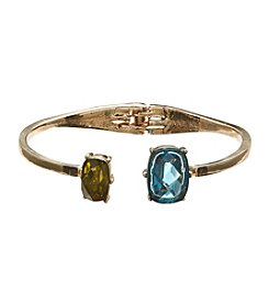 Anne Klein® Goldtone Multi Stone Bangle Bracelet