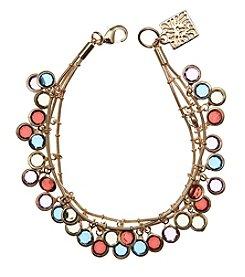 Anne Klein® Goldtone Multi Shaky Bracelet
