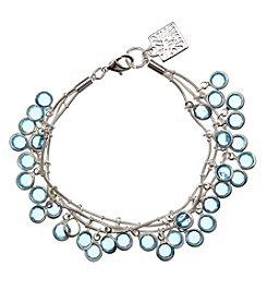 Anne Klein® Silvertone Blue Shaky Bracelet