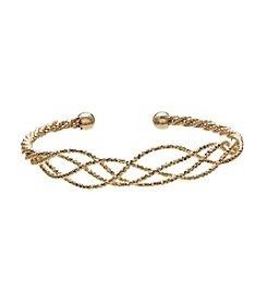 Anne Klein® Goldtone Weave Bangle