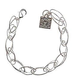 Anne Klein® Silvertone Link Flex Bracelet