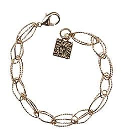 Anne Klein Goldtone Link Flex Bracelet