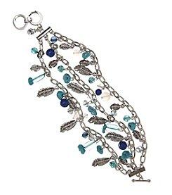 Vera Bradley® Silvertone Feathers Chain Bracelet