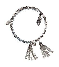 Vera Bradley® Silvertone Feathers Coil Bracelet