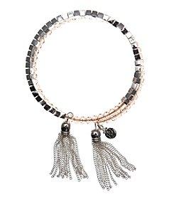 Vera Bradley® Silvertone Beaded Coil Bracelet