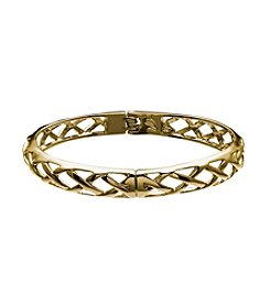 Vera Bradley® Goldtone Thin Quilted Bangle