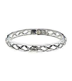 Vera Bradley® Silvertone Thin Quilted Bangle