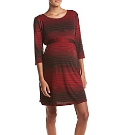 Three Seasons Maternity™ Stripe Belted Dress