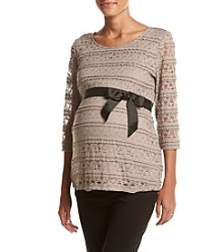 Three Seasons Maternity™ Belted Lace Top