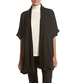 Cupio Ribbed Placket Poncho