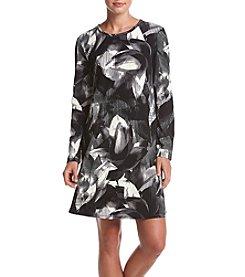 Cupio Petal Print A-line Dress