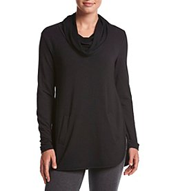 Cupio Solid Cowl Neck Top