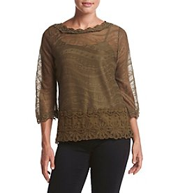 Adiva Sheer Overlay Top