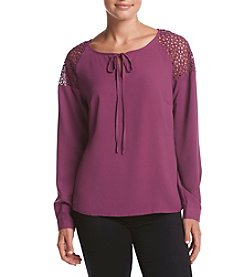 Adiva Lace Shoulder Top