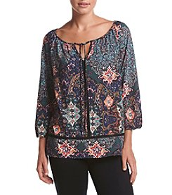 Cupio Printed Raglan Top