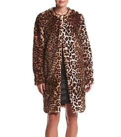 Fever™ Leopard Print Faux Fur Coat
