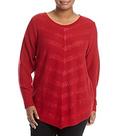 AGB® Plus Size Sparkle Sweater