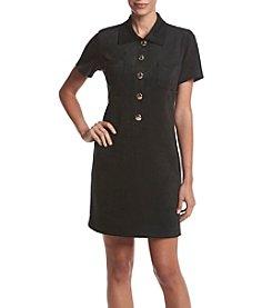 Tommy Hilfiger® Faux Suede Sheath Dress