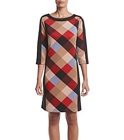 Nine West® Plaid Shift Dress