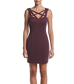 GUESS Strappy Neck Scuba Dress