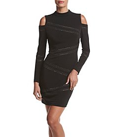 GUESS Cold Shoulder Dress With Studs