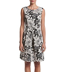 Adrianna Papell® Printed Fit And Flare Dress