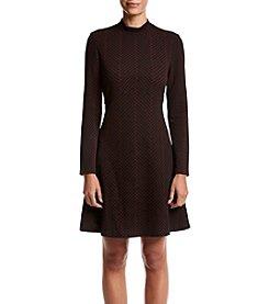 Ivanka Trump® Mock Neck Novelty Dress