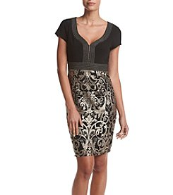 Adrianna Papell® Embroidered Sheath Dress